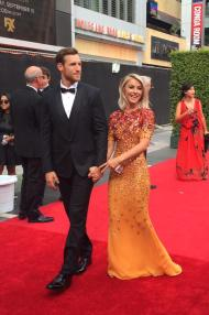 """Orange has never looked better than on Julianne Hough today on #EmmysArts red carpet! #fashion"" - September 12, 2015 Courtesy TelevisionAcad twitter"